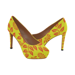 FLORAL DESIGN 2 Women's High Heels (Model 044)