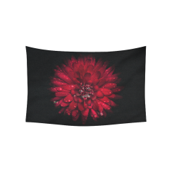 "Backyard Flowers 45 Color Version Cotton Linen Wall Tapestry 60""x 40"""