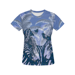 African zebras All Over Print T-Shirt for Women (USA Size) (Model T40)