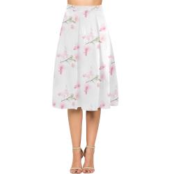 Pattern Orchidées Aoede Crepe Skirt (Model D16)