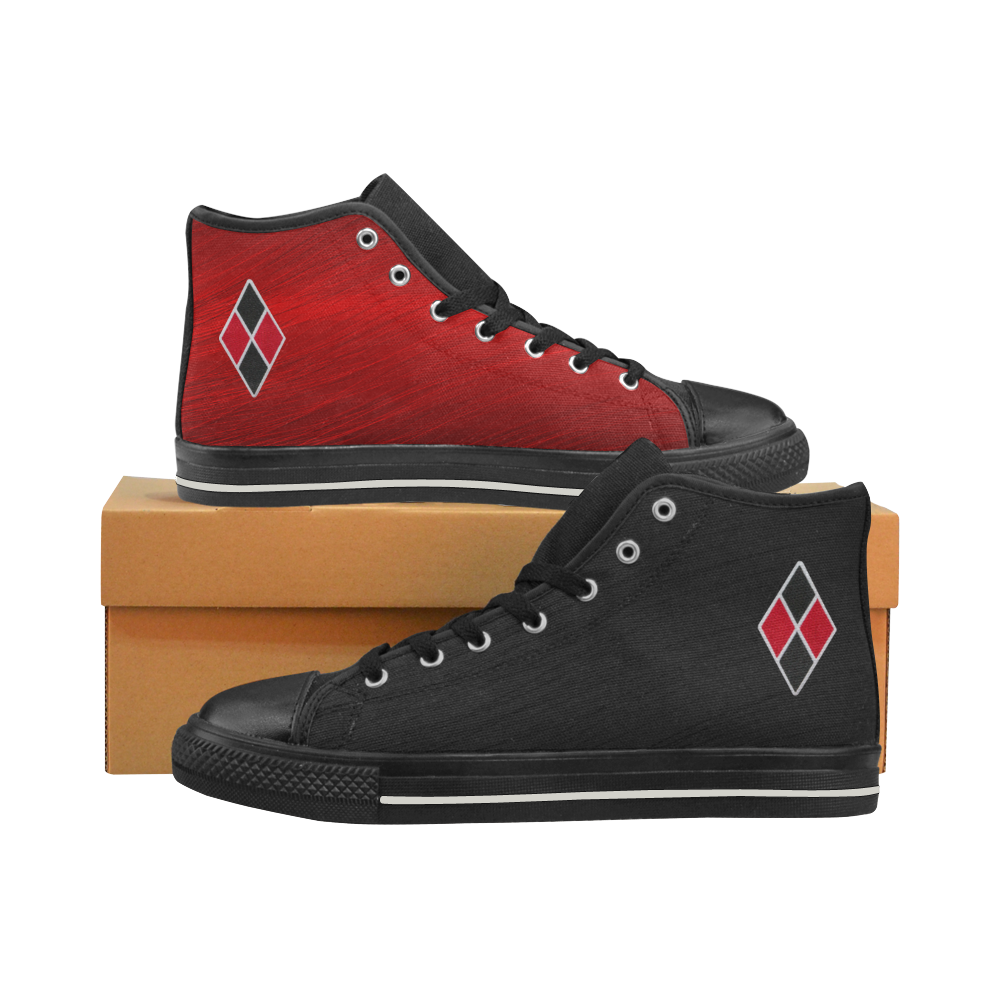 Harley Quinn Women's Classic High Top Canvas Shoes (Model 017)