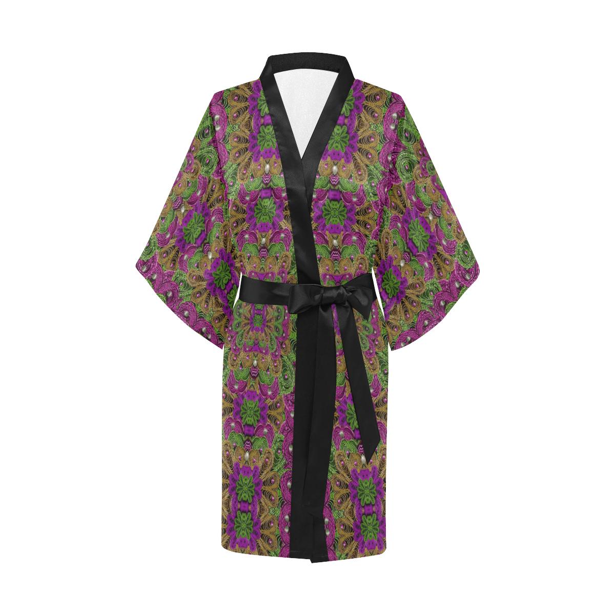 Peacock lace in the nature Kimono Robe