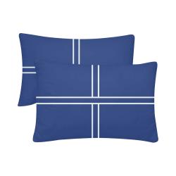 """Porcelain Blue Cross Custom Pillow Case 20""""x 30"""" (One Side) (Set of 2)"""