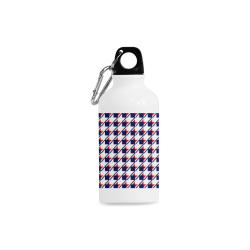 Red Blue Houndstooth Cazorla Sports Bottle(13.5OZ)