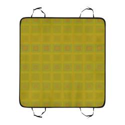 Golden reddish multicolored multiple squares New Pet Car Seat 55''x58''