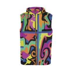 L4G_Sleeveless zip up Hoodie - Men All Over Print Sleeveless Zip Up Hoodie for Men (Model H16)