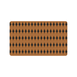 "Harlequin Diamond Mod Tan Black Doormat 30""x18"""