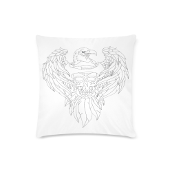 """Color Me Eagle Sugar Skull Custom Zippered Pillow Case 16""""x16"""" (one side)"""
