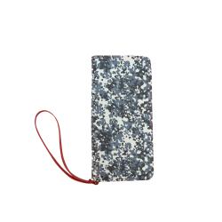 Urban City Black/Gray Digital Camouflage Women's Clutch Wallet (Model 1637)