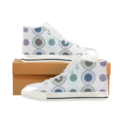 zappwaits e5 Women's Classic High Top Canvas Shoes (Model 017)