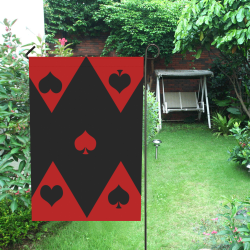 Las Vegas Black Red Play Card Shapes Garden Flag 12''x18''(Without Flagpole)