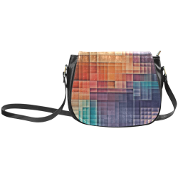 pixels #colors Classic Saddle Bag/Large (Model 1648)