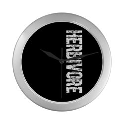 Herbivore (vegan) Silver Color Wall Clock