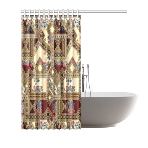 "Luxury Abstract Design Shower Curtain 66""x72"""