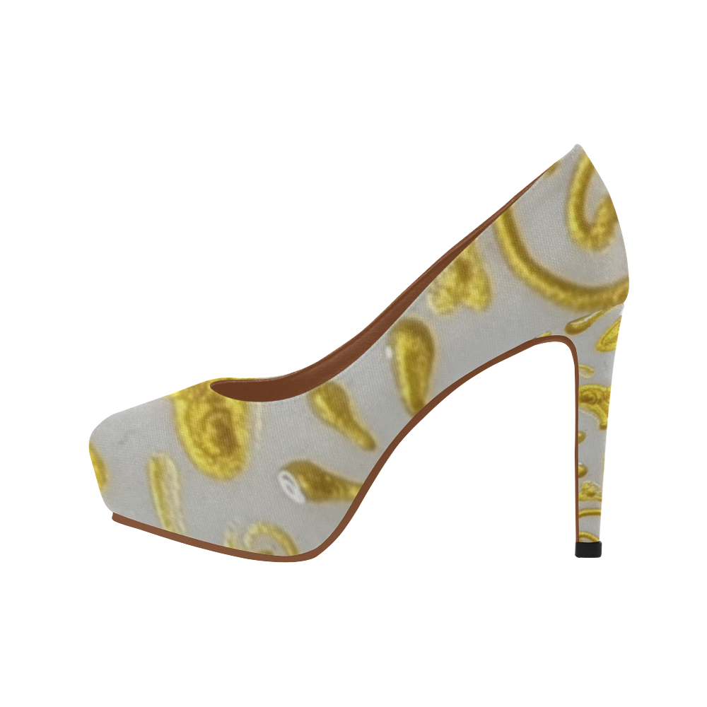 Yellow Heart Women's High Heels (Model 044)