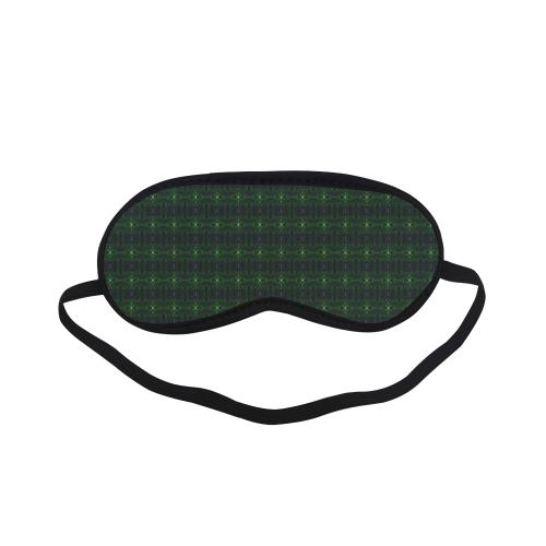 Green Glass Kaleidoscope Sleeping Mask