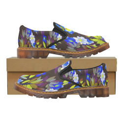 FLORAL DESIGN 1 Martin Women's Slip-On Loafer (Model 12031)