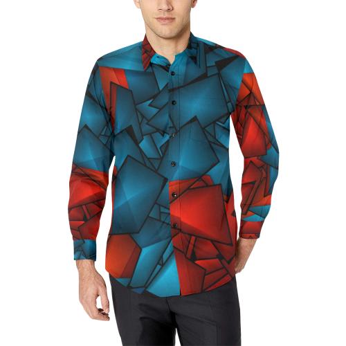 Braque Pattern by Artdream Men's All Over Print Casual Dress Shirt (Model T61)