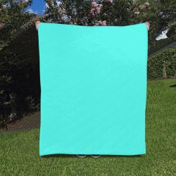"Neon Turquoise Quilt 50""x60"""