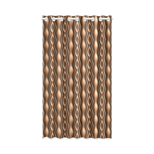 """brown leather abstract wave New Window Curtain 52"""" x 84""""(One Piece)"""