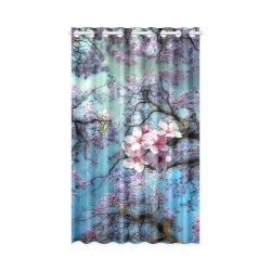 "Cherry blossomL New Window Curtain 50"" x 84""(One Piece)"