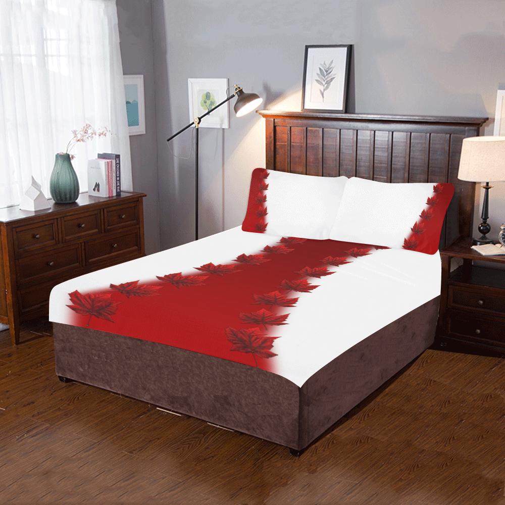 Canada Maple Leaf Bedding 3-Piece Bedding Set