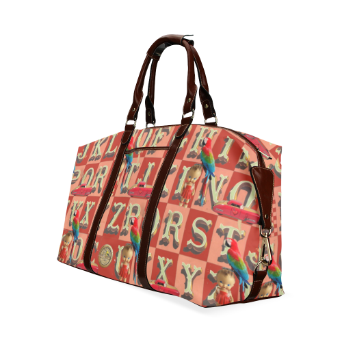 A Parrot in the Nursery Classic Travel Bag (Model 1643) Remake