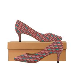 zappwaits w3 Women's Pointed Toe Low Heel Pumps (Model 053)