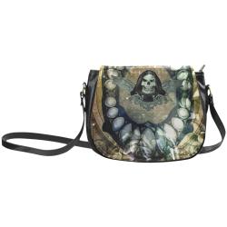 Awesome scary skull Classic Saddle Bag/Large (Model 1648)