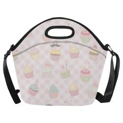 Cupcakes Neoprene Lunch Bag/Large (Model 1669)