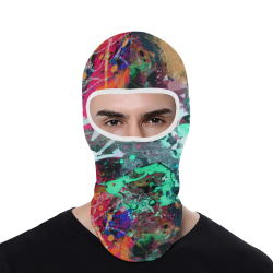 Graffiti Wall and Paint Splatter All Over Print Balaclava
