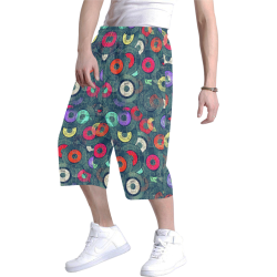 Record Vinyl by Artdream Men's All Over Print Baggy Shorts (Model L37)