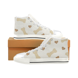 Hearts and Biscuits High Top Canvas Shoes for Kid (Model 017)