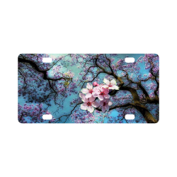 Cherry blossomL Classic License Plate