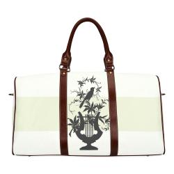 Lime Dust Estate Stripe Waterproof Travel Bag/Large (Model 1639)