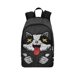 Woke Trash Panda Rave Festival Fabric Backpack for Adult (Model 1659)
