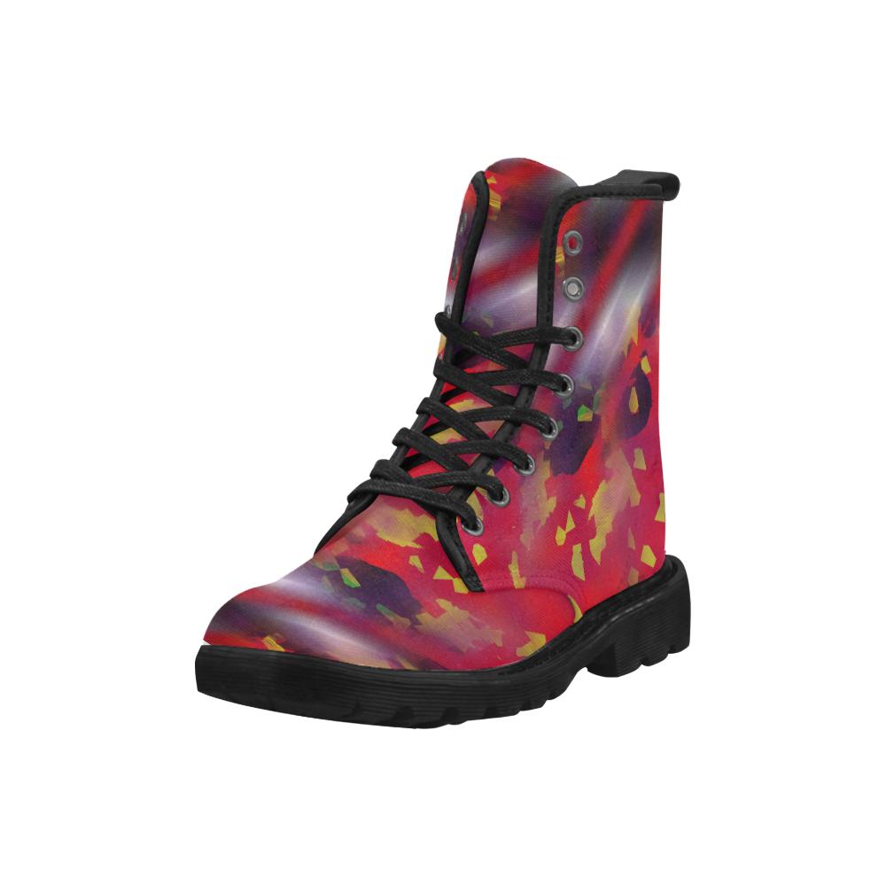 bkg213_3 Martin Boots for Men (Black) (Model 1203H)