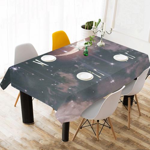 "moonlights Cotton Linen Tablecloth 60""x120"""