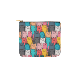 Cartoon Cat Pattern Carry-All Pouch 6''x5''