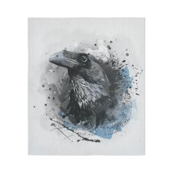 "crow raven bird art #crow #raven Cotton Linen Wall Tapestry 51""x 60"""