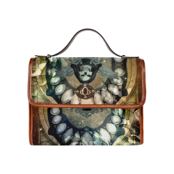 Awesome scary skull Waterproof Canvas Bag/All Over Print (Model 1641)