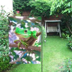 Green Tree Frog Garden Flag 12''x18''(Without Flagpole)