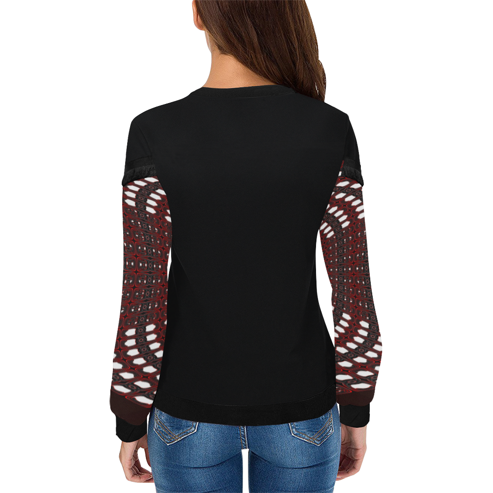 8000  EKPAH 27 low Women's Fringe Detail Sweatshirt (Model H28)