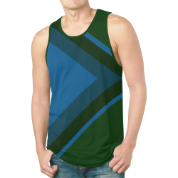 Classic Blue Layers on Green New All Over Print Tank Top for Men (Model T46)