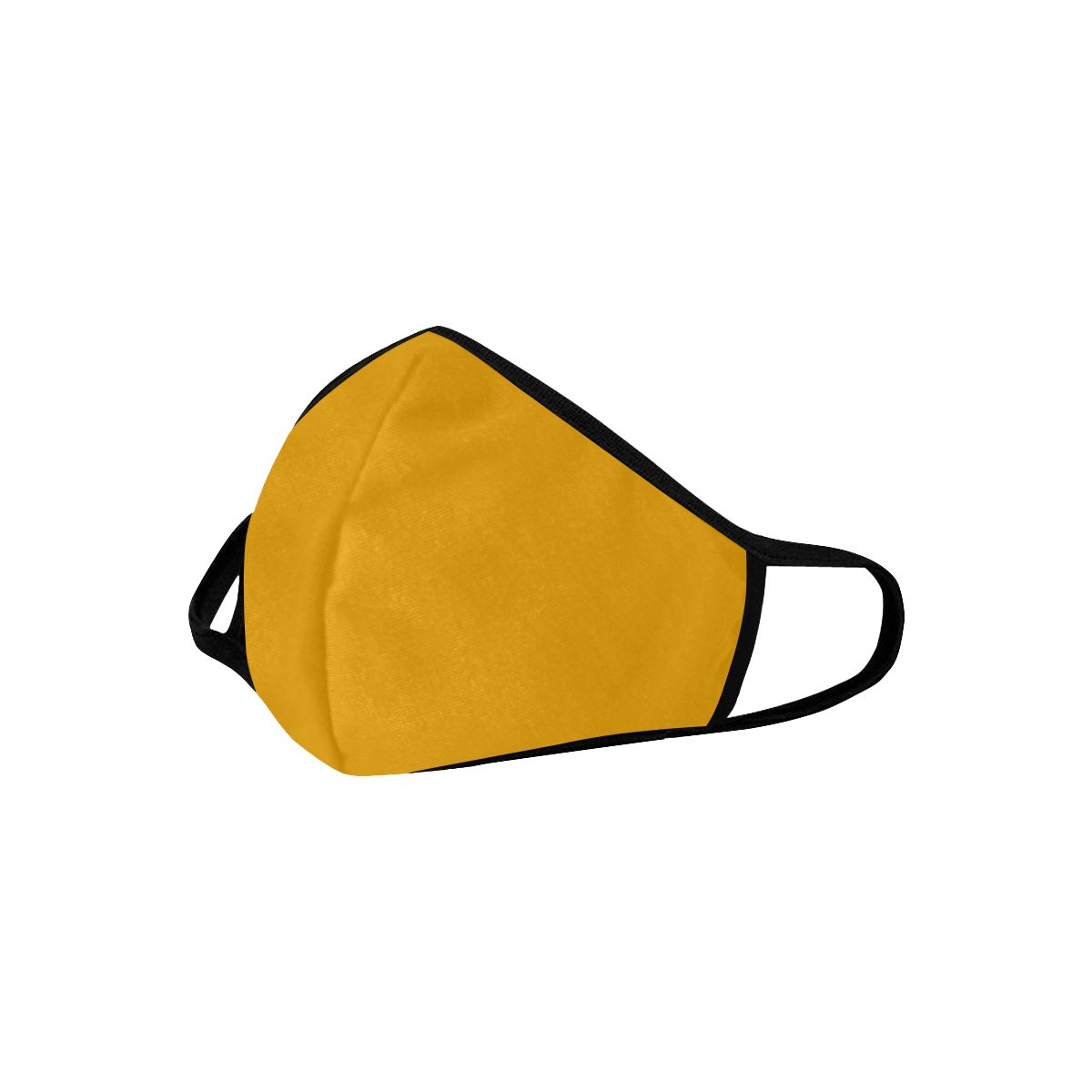 Sunflower Orange Solid Color 3D Mouth Mask (2 Filters Included) (Model M03) (Non-medical Products)