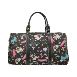 Pug Unicorns New Waterproof Travel Bag/Small (Model 1639)