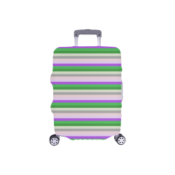 "Fun Stripes 2 Luggage Cover/Small 18""-21"""