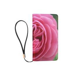 Rose Fleur Macro Men's Clutch Purse (Model 1638)