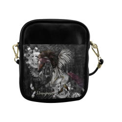 Aweswome steampunk horse with wings Sling Bag (Model 1627)