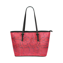 SNAKE LEATHER 6 Leather Tote Bag/Small (Model 1640)